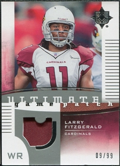 2007 Upper Deck Ultimate Collection Game Patches #UGPLF Larry Fitzgerald /99