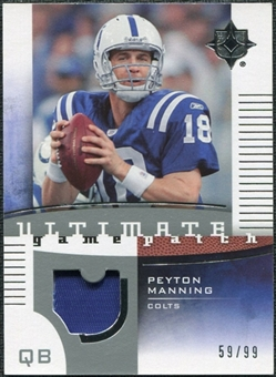 2007 Upper Deck Ultimate Collection Game Patches #UGPPM Peyton Manning 59/99