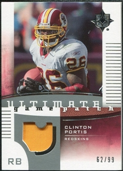 2007 Upper Deck Ultimate Collection Game Patches #UGPPO Clinton Portis /99