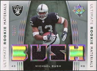 2007 Upper Deck Ultimate Collection Rookie Materials Holosilver Patch #URMMB Michael Bush /50