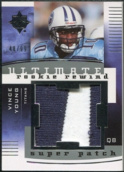 2007 Upper Deck Ultimate Collection Rookie Rewind Super Patches #VY Vince Young /99