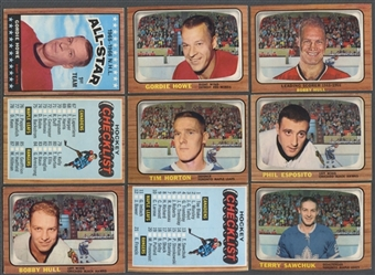 1966/67 Topps Hockey Near Complete Set (Missing #35 Orr & #125 Hull AS)