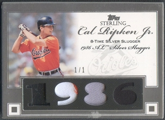 2006 Topps Sterling #CRSS4 Cal Ripken Moments Relics Prime Patch #1/1