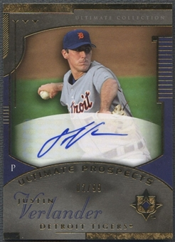 2005 Ultimate Collection #239 Justin Verlander Rookie Auto #02/99