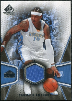 2007/08 Upper Deck SP Game Used #108 Carmelo Anthony Jersey