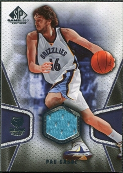 2007/08 Upper Deck SP Game Used #131 Pau Gasol Jersey