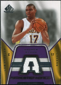 2007/08 Upper Deck SP Game Used Authentic Fabrics #AFAB Andrew Bynum