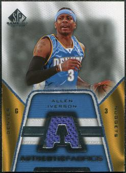 2007/08 Upper Deck SP Game Used Authentic Fabrics #AFAI Allen Iverson
