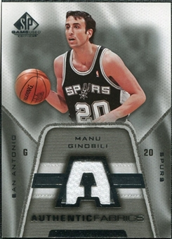 2007/08 Upper Deck SP Game Used Authentic Fabrics #AFMG Manu Ginobili