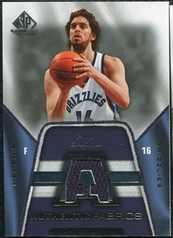 2007/08 Upper Deck SP Game Used Authentic Fabrics #AFPG Pau Gasol