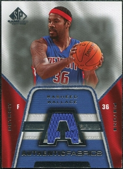 2007/08 Upper Deck SP Game Used Authentic Fabrics #AFRW Rasheed Wallace