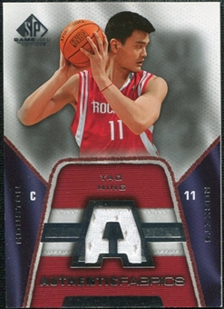 2007/08 Upper Deck SP Game Used Authentic Fabrics #AFYM Yao Ming