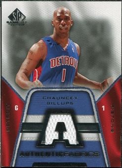 2007/08 Upper Deck SP Game Used Authentic Fabrics #AFCH Chauncey Billups