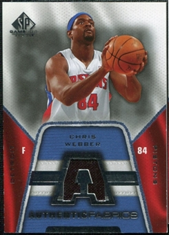 2007/08 Upper Deck SP Game Used Authentic Fabrics #AFCW Chris Webber
