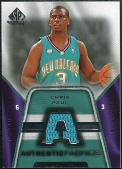 2007/08 Upper Deck SP Game Used Authentic Fabrics #AFCP Chris Paul