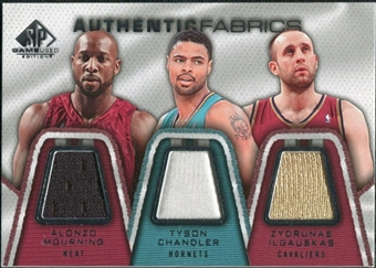 2007/08 Upper Deck SP Game Used Authentic Fabrics Triple #MCI Alonzo Mourning/Tyson Chandler/Zydrunas Ilgauska