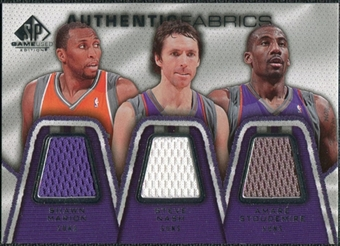 2007/08 Upper Deck SP Game Used Authentic Fabrics Triple #MNS Shawn Marion/Steve Nash/Amare Stoudemire /50