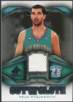 2007/08 Upper Deck SP Game Used Cut from the Cloth #CCPS Peja Stojakovic