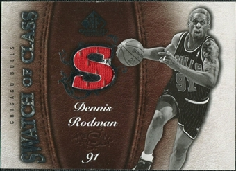2007/08 Upper Deck SP Game Used Swatch of Class #SCDE Dennis Rodman