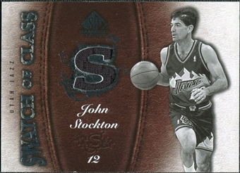 2007/08 Upper Deck SP Game Used Swatch of Class #SCJS John Stockton