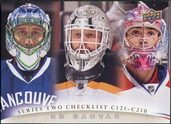 2011/12 Upper Deck Canvas #C210 Roberto Luongo Tim Thomas Carey Price