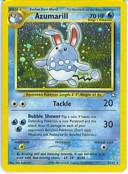 Pokemon Neo Genesis 1st Edition Single Azumarill 2/111 - NEAR MINT (NM)