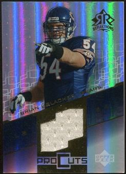 2004 Upper Deck Reflections Pro Cuts Jerseys Gold #PCBU Brian Urlacher