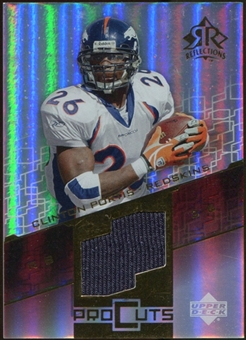 2004 Upper Deck Reflections Pro Cuts Jerseys Gold #PCCP Clinton Portis