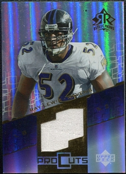 2004 Upper Deck Reflections Pro Cuts Jerseys Gold #PCRL Ray Lewis