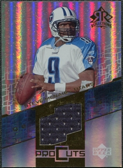 2004 Upper Deck Reflections Pro Cuts Jerseys Gold #PCST Steve McNair