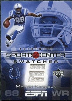 2005 Upper Deck ESPN Sports Center Swatches #MH Marvin Harrison