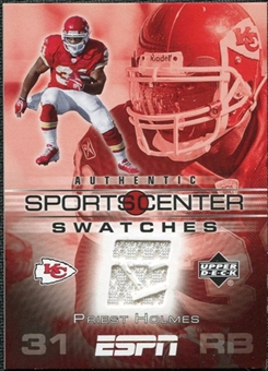 2005 Upper Deck ESPN Sports Center Swatches #PH Priest Holmes