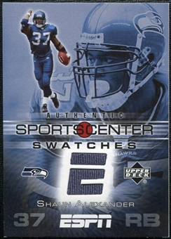 2005 Upper Deck ESPN Sports Center Swatches #SA Shaun Alexander