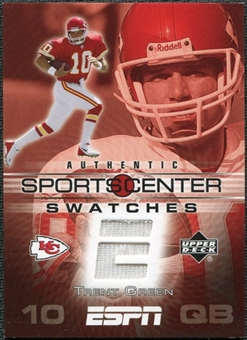 2005 Upper Deck ESPN Sports Center Swatches #TG Trent Green