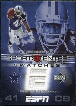 2005 Upper Deck ESPN Sports Center Swatches #TN Terrence Newman