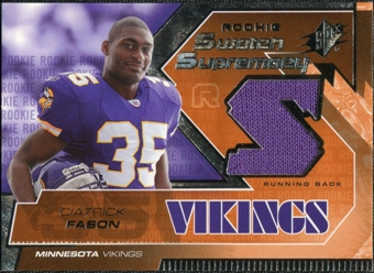 2005 Upper Deck SPx Rookie Swatch Supremacy #RSCI Ciatrick Fason