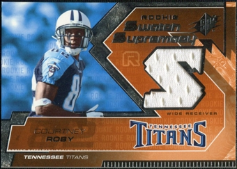 2005 Upper Deck SPx Rookie Swatch Supremacy #RSCR Courtney Roby