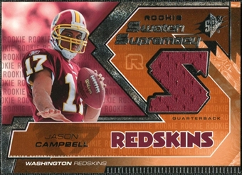 2005 Upper Deck SPx Rookie Swatch Supremacy #RSJC Jason Campbell