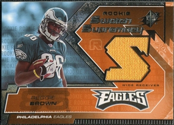 2005 Upper Deck SPx Rookie Swatch Supremacy #RSRE Reggie Brown