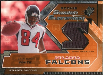 2005 Upper Deck SPx Rookie Swatch Supremacy #RSRW Roddy White