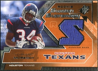 2005 Upper Deck SPx Rookie Swatch Supremacy #RSVM Vernand Morency