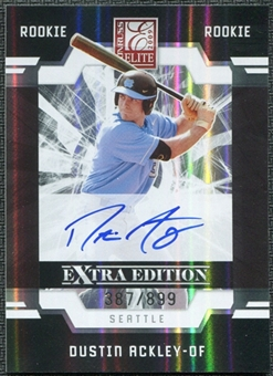 2009 Donruss Elite Extra Edition #51 Dustin Ackley RC Autograph 387/899