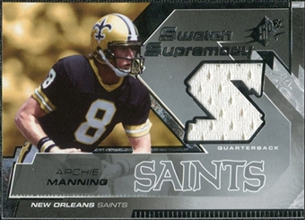 2005 Upper Deck SPx Swatch Supremacy #SWAM Archie Manning SP