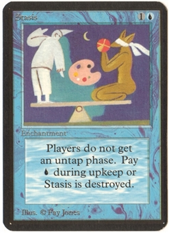 Magic the Gathering Alpha Single Stasis - NEAR MINT (NM)