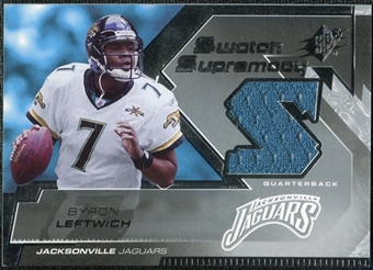 2005 Upper Deck SPx Swatch Supremacy #SWBL Byron Leftwich