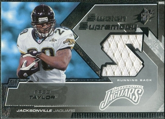 2005 Upper Deck SPx Swatch Supremacy #SWFT Fred Taylor