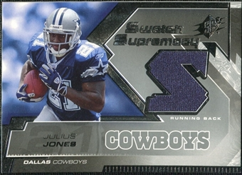 2005 Upper Deck SPx Swatch Supremacy #SWJJ Julius Jones