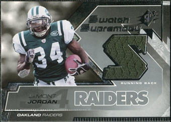 2005 Upper Deck SPx Swatch Supremacy #SWLA LaMont Jordan