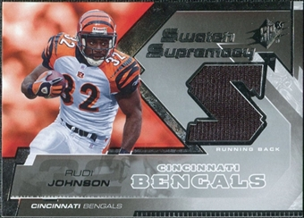 2005 Upper Deck SPx Swatch Supremacy #SWRJ Rudi Johnson