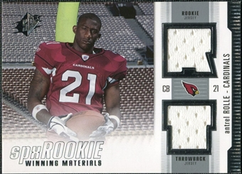 2005 Upper Deck SPx Rookie Winning Materials #RWMAN Antrel Rolle SP